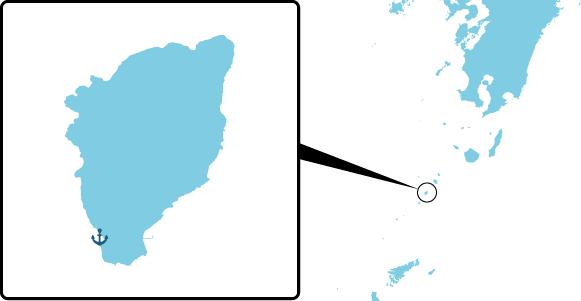 諏訪之瀬島の概要図