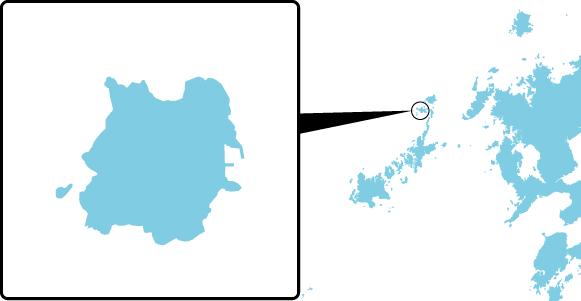 斑島の概要図