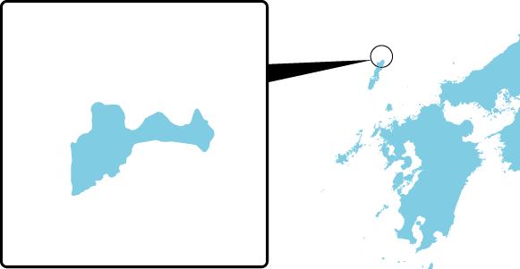 海栗島の概要図
