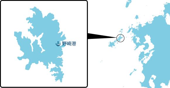 若松島の概要図