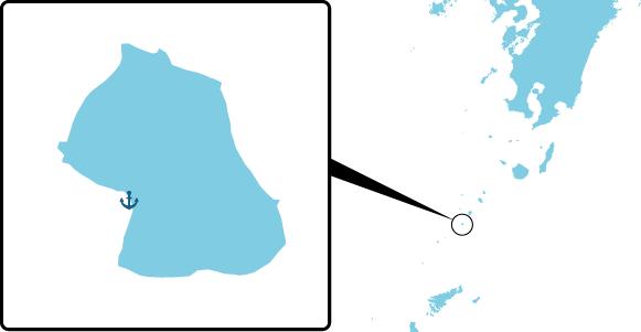 悪石島の概要図