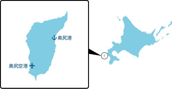 奥尻島の概要図