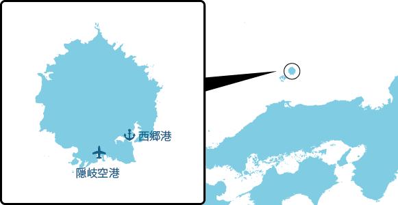 島後の概要図