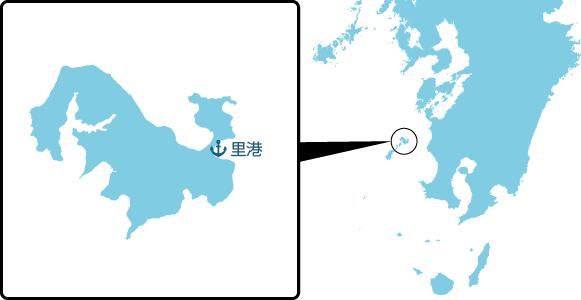 上甑島の概要図