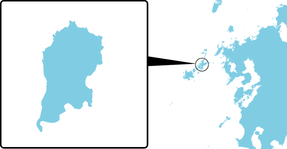 日島の概要図
