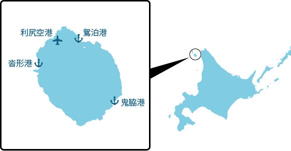 利尻島の概要図