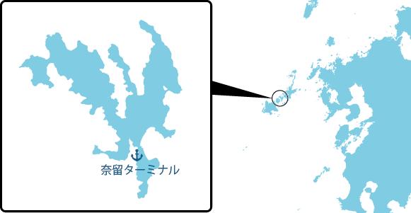 奈留島の概要図