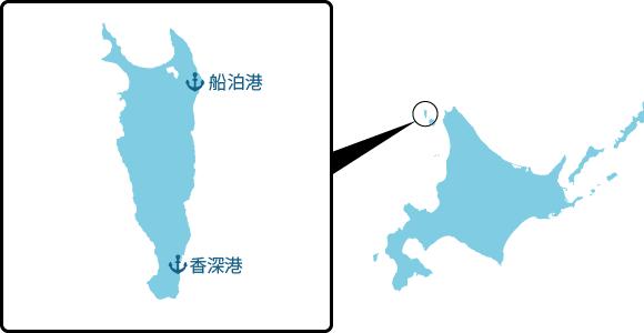 礼文島の概要図