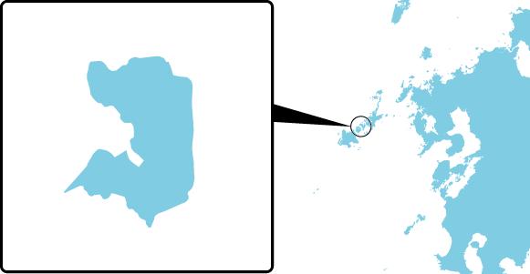 前島の概要図