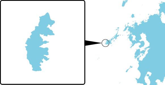 島山島の概要図