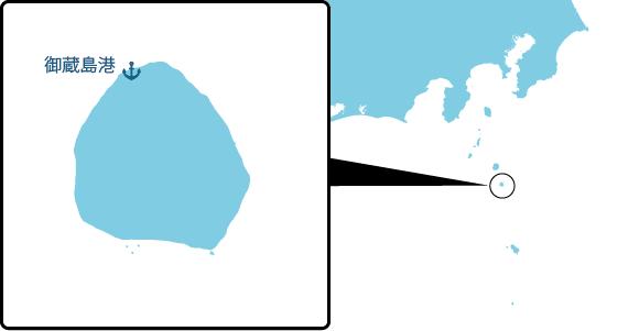御蔵島の概要図