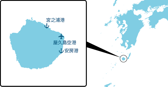 屋久島の概要図