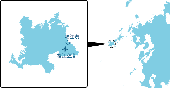 福江島の概要図