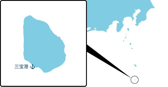 青ヶ島の概要図