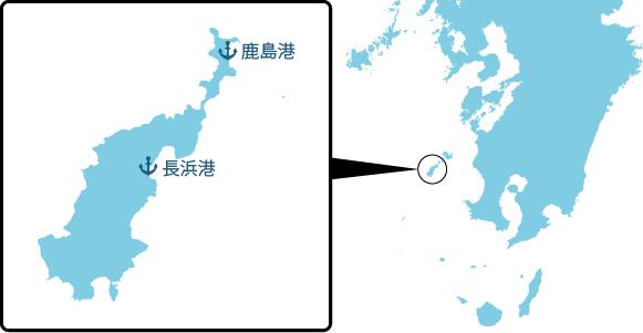 下甑島の概要図