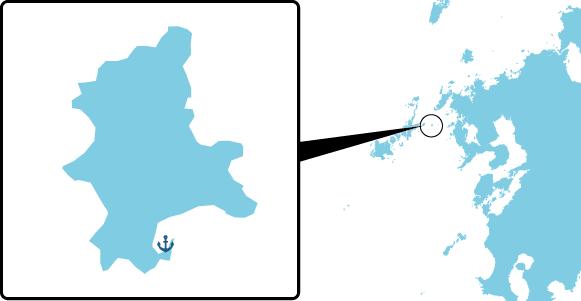 江島の概要図