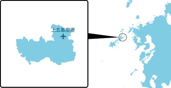 頭ヶ島の概要図