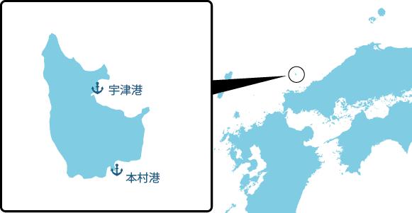 見島の概要図