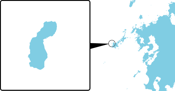 嵯峨ノ島の概要図