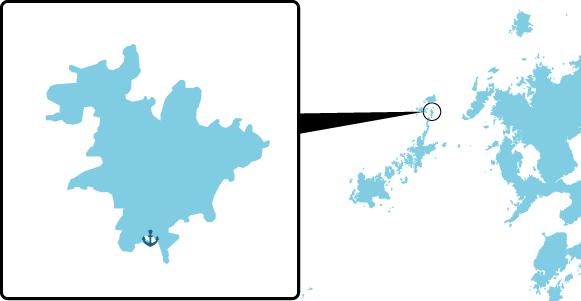 納島の概要図