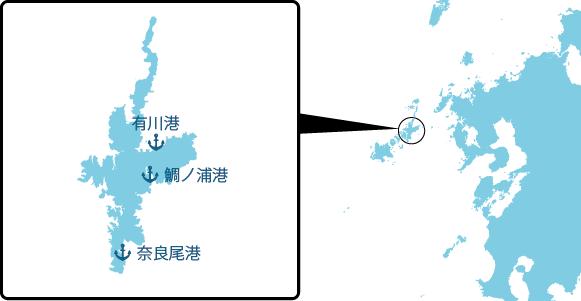 中通島の概要図