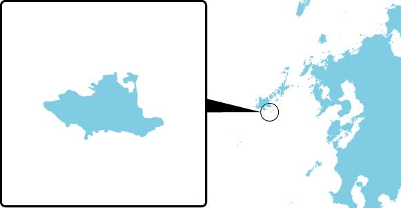 赤島の概要図