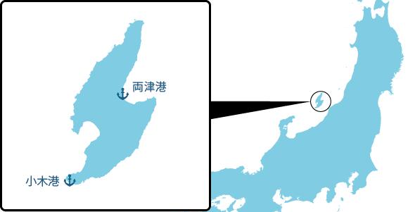 佐渡島の概要図