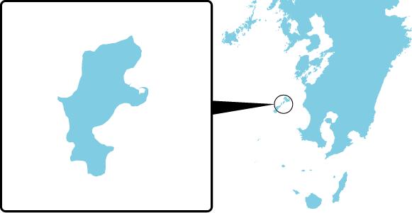 中甑島の概要図